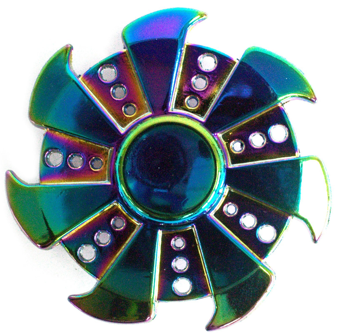 Metal Fidget Spinner - Seven Wings - Rainbow