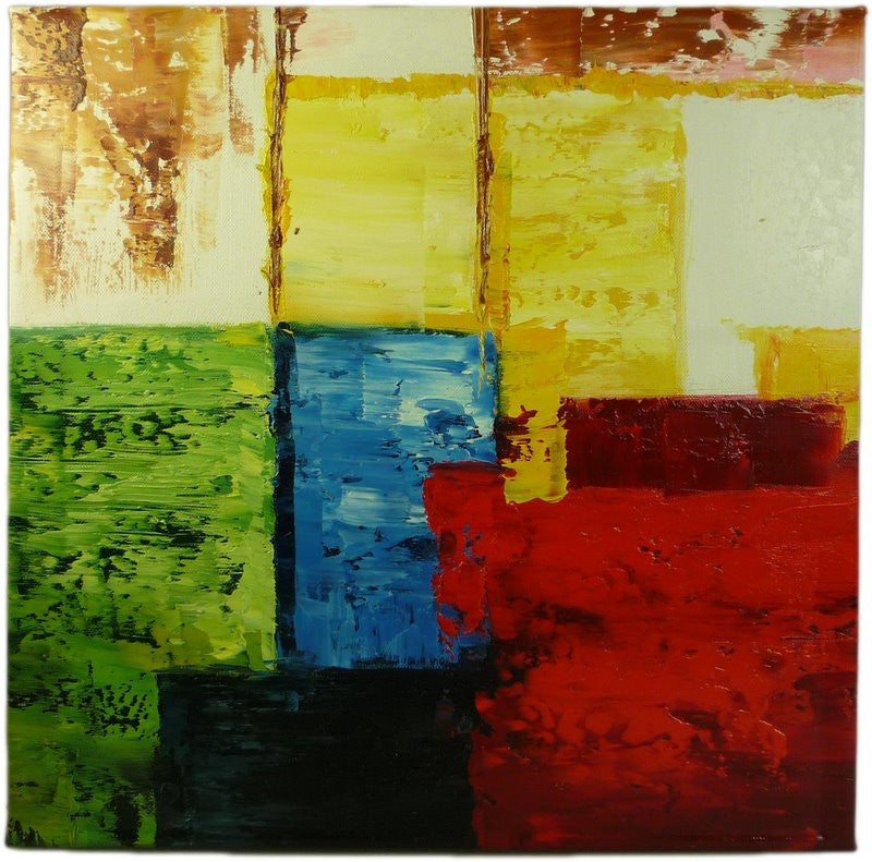 Abstract Squares Oil Painting