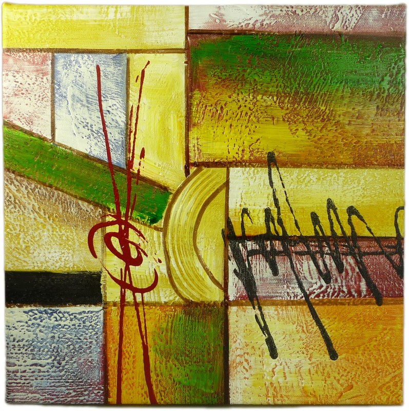 Original Abstract Squares Oil Painting