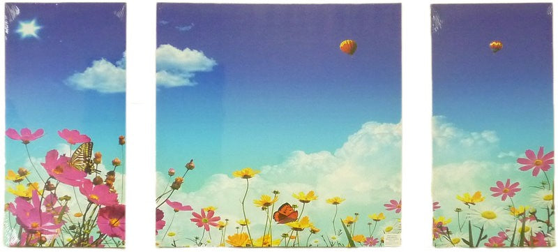 3 Pieces Blue Sky Thinking Wall Art Canvas