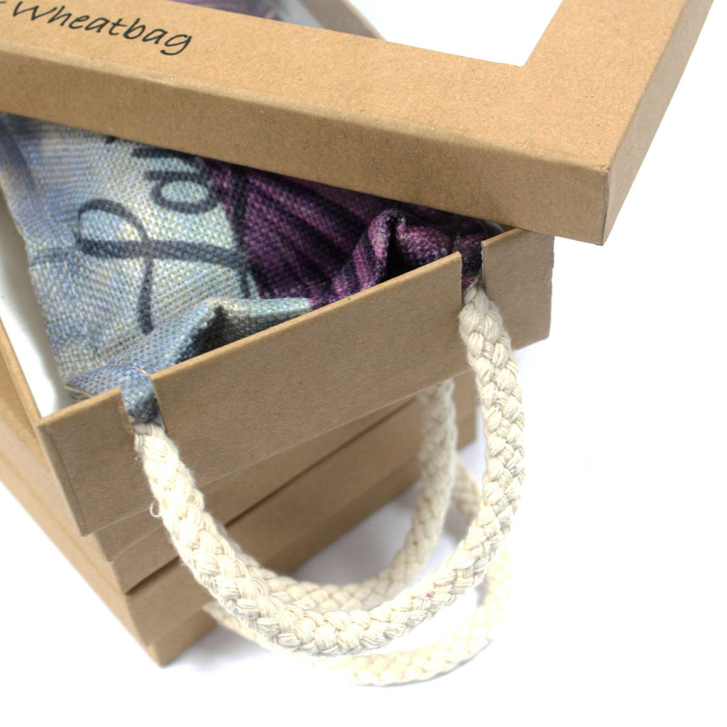 Luxury Lavender Wheat Bag in Gift Box - Butterfly & Roses
