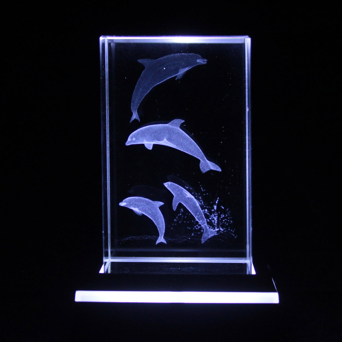 Four Dolphins Star Crystal Laser Block