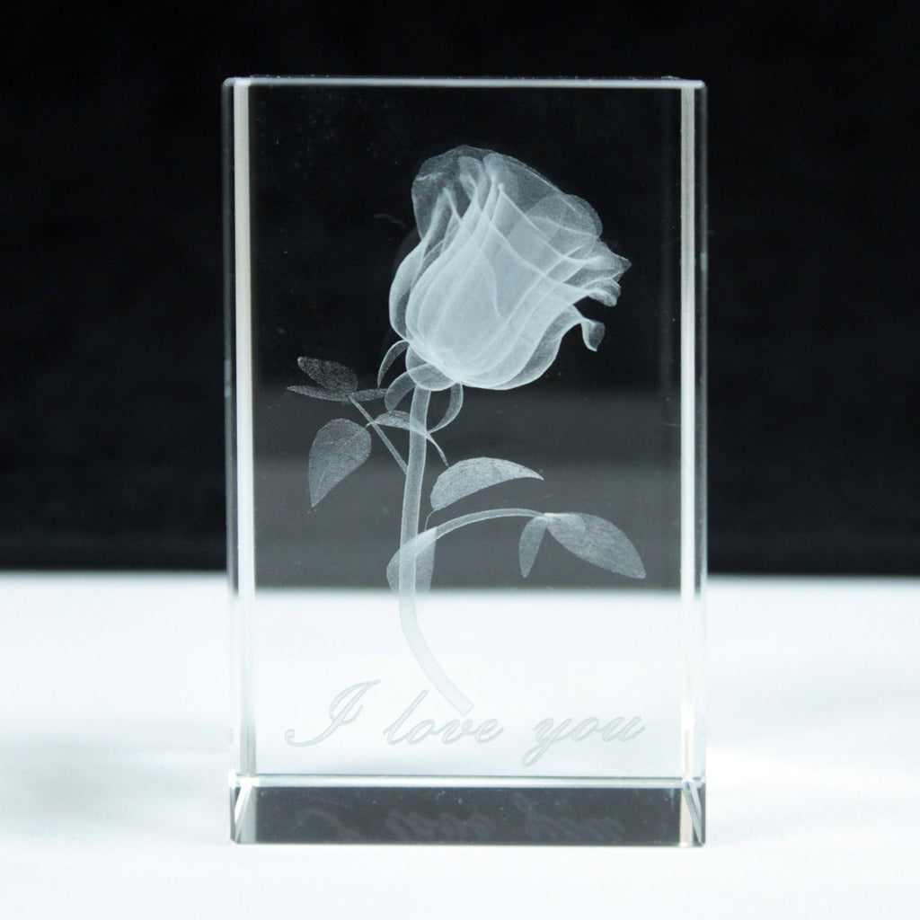 Rose Star Crystal Laser Block