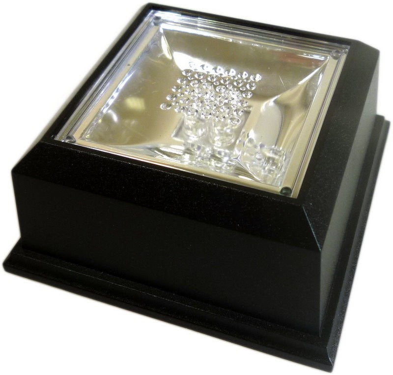 Coloured Light LED Crystal Display Stand