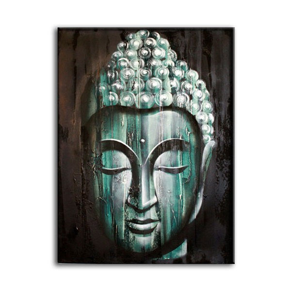 Wood Buddha Green - Painting