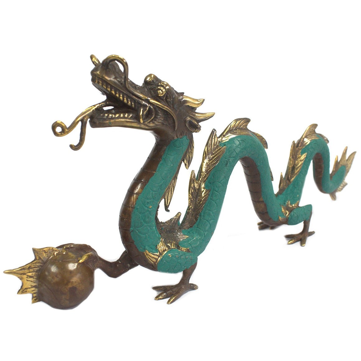 Feng Shui Dragon Brass Figurine - 45cm
