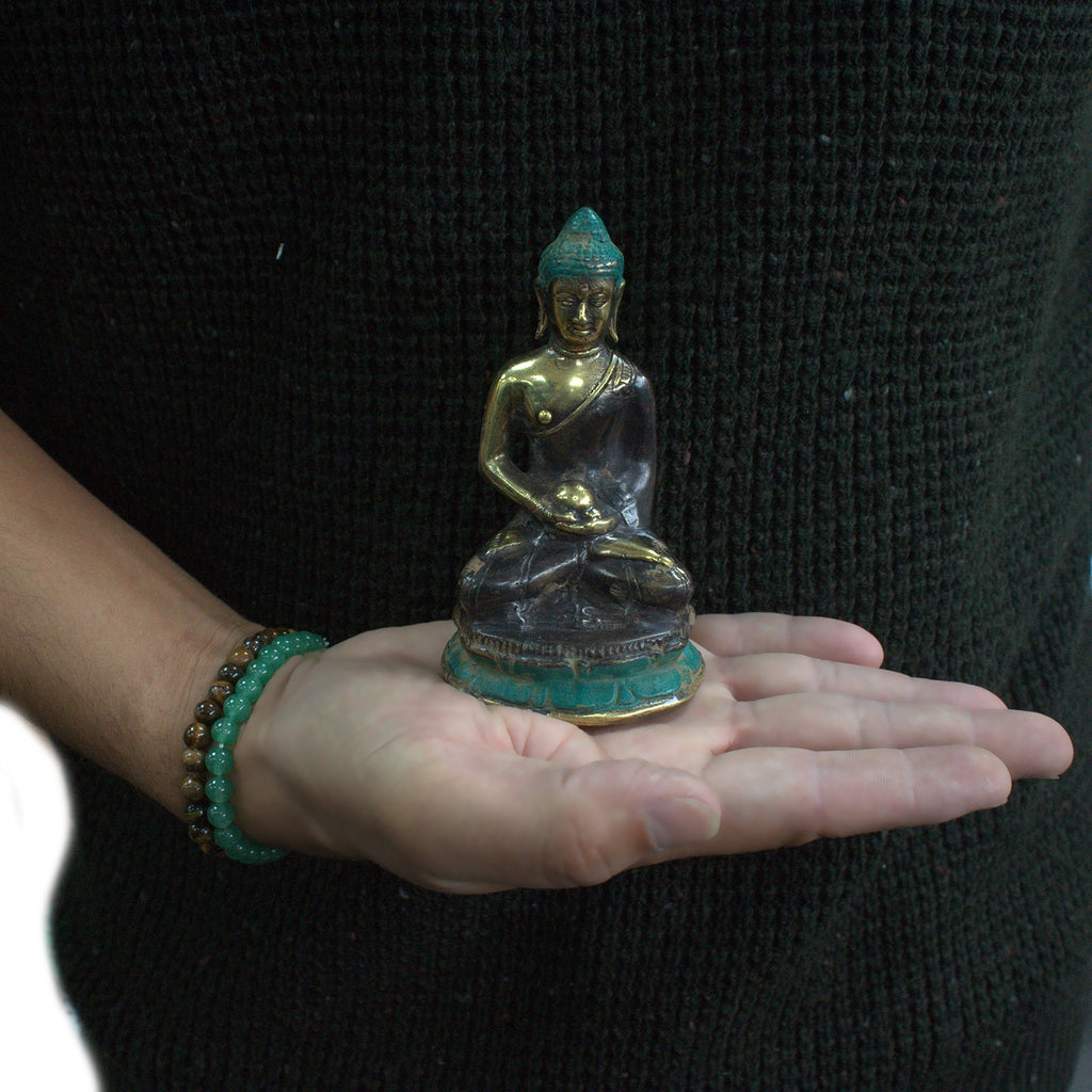 Meditation Sitting Buddha Brass Figurine