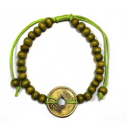 Good Luck Feng Shui Bracelet - Lime Green