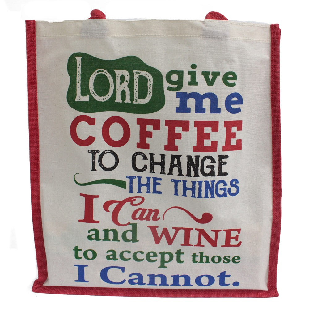 Lord Give Me Coffee Jute Shopping Bag