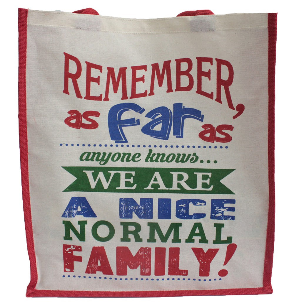 A Nice Normal Family Jute Shopping Bag