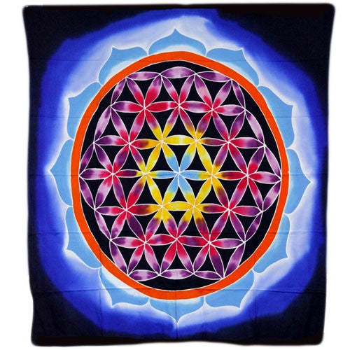 Flower of Life and Love - Wax Batik Wall Hangings