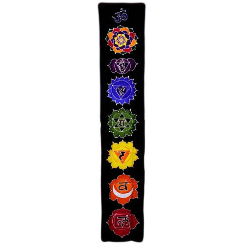 Chakra Drop Banner - Wax Batik Wall Hangings