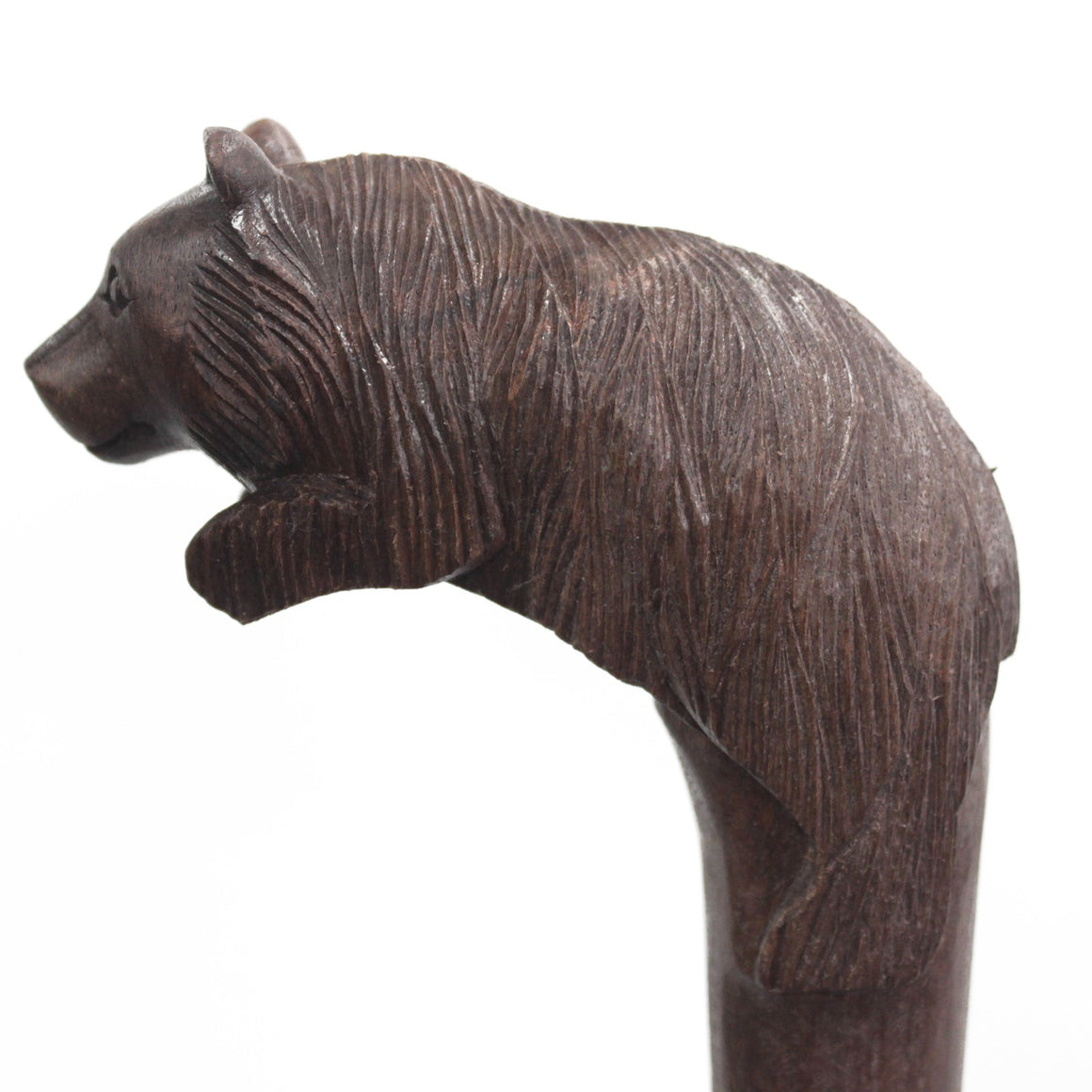Wooden Walking Stick - Bear