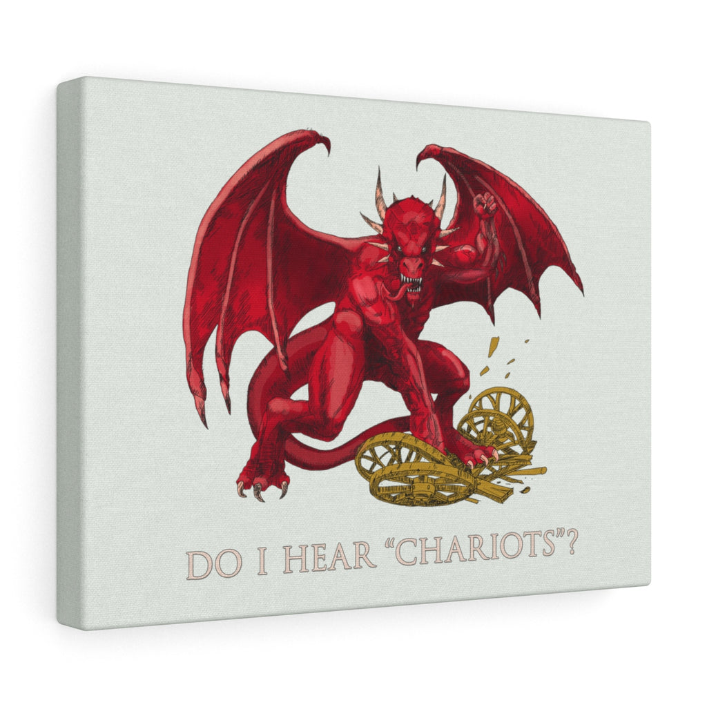 The Welsh Dragon Stretched Canvas rugby football