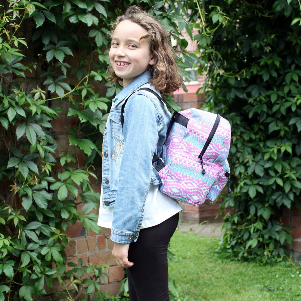 Pink Pastels Undersized Ethnic Backpack