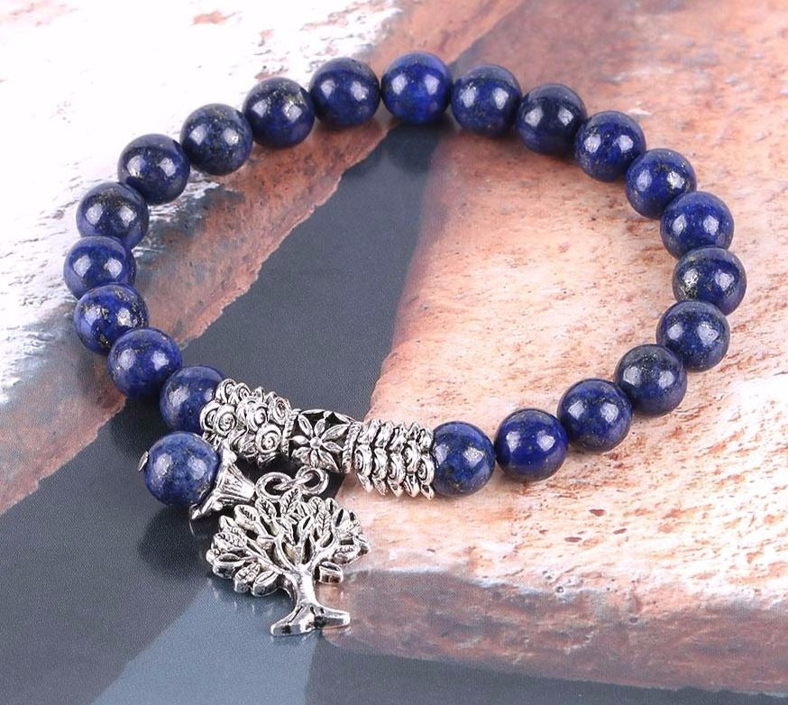 Buddhist jewelry natural stone bracelets lapis