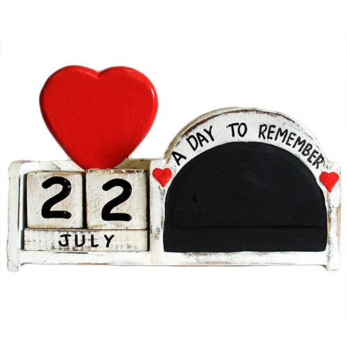 Day to Remember Pen Holder -  Arch Blackboard - Whitewash