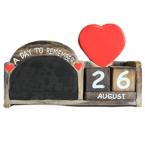 Day to Remember Pen Holder -  Arch Blackboard - Natural