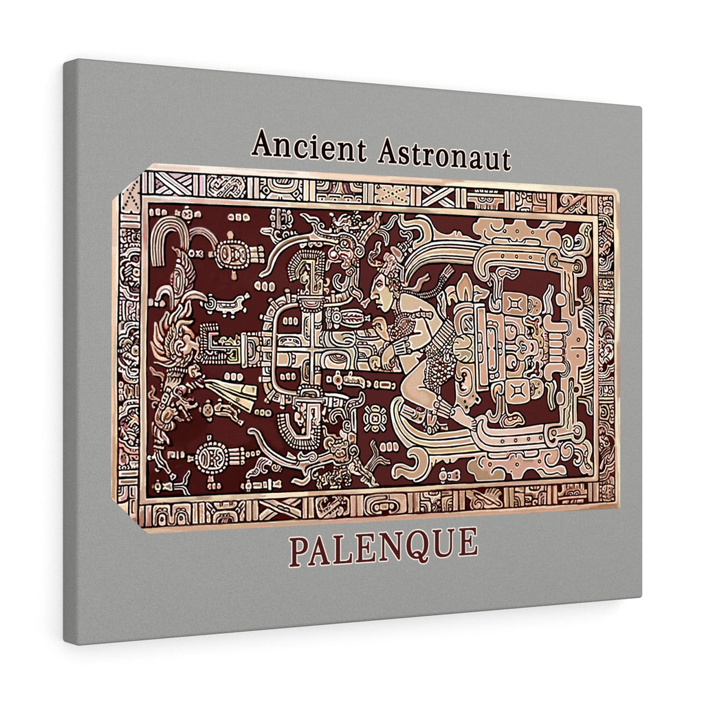 Ancient Astronaut - Palenque - Stretched canvas - Art