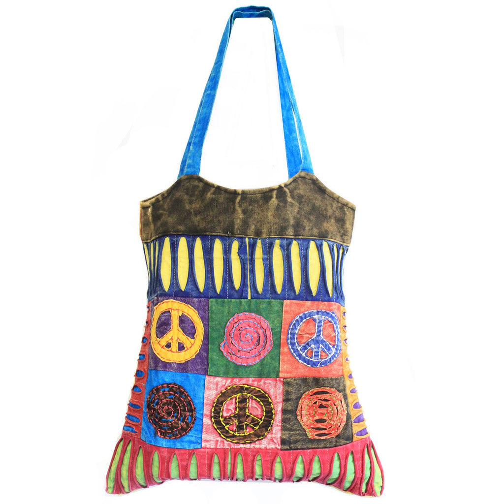 Classic Peace Symbol Skirt ethnic Bag