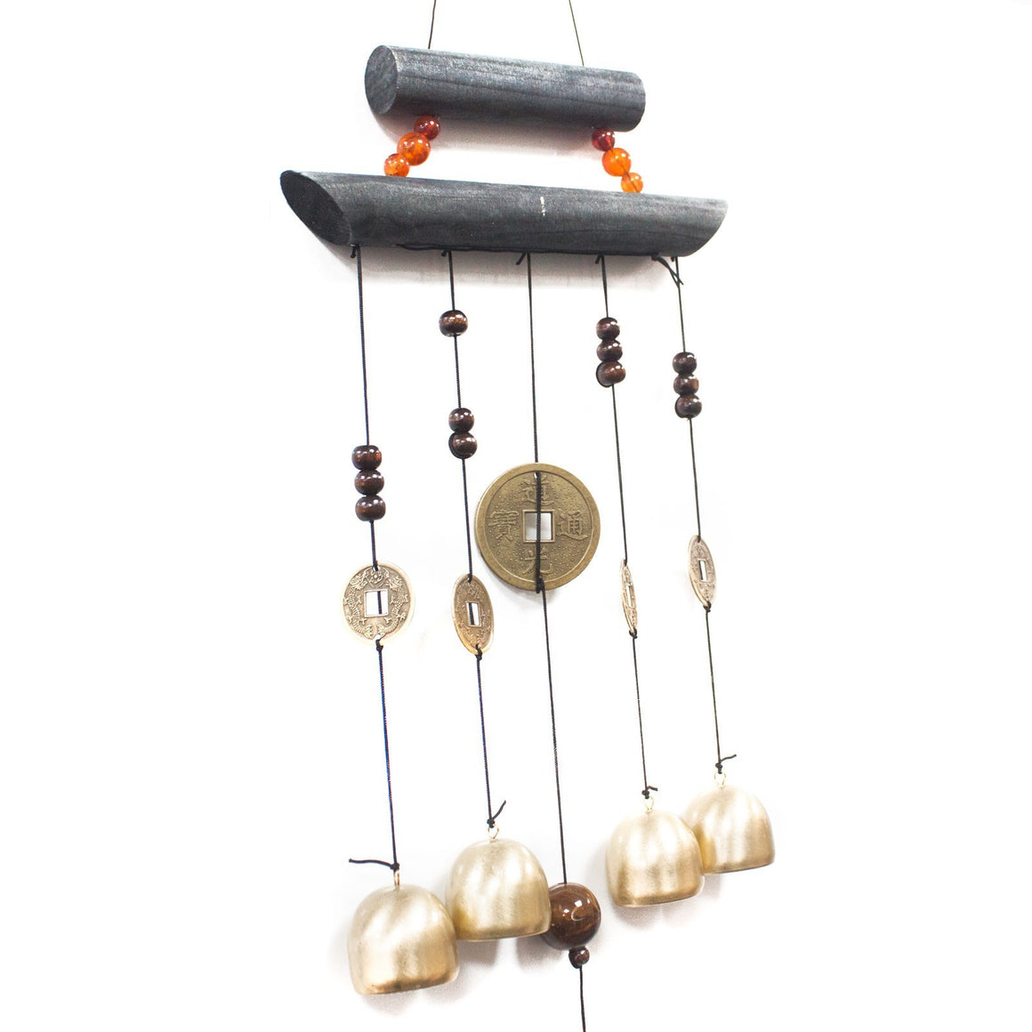 Feng Shui Chimes - Happy Home 4 Bells & Coin