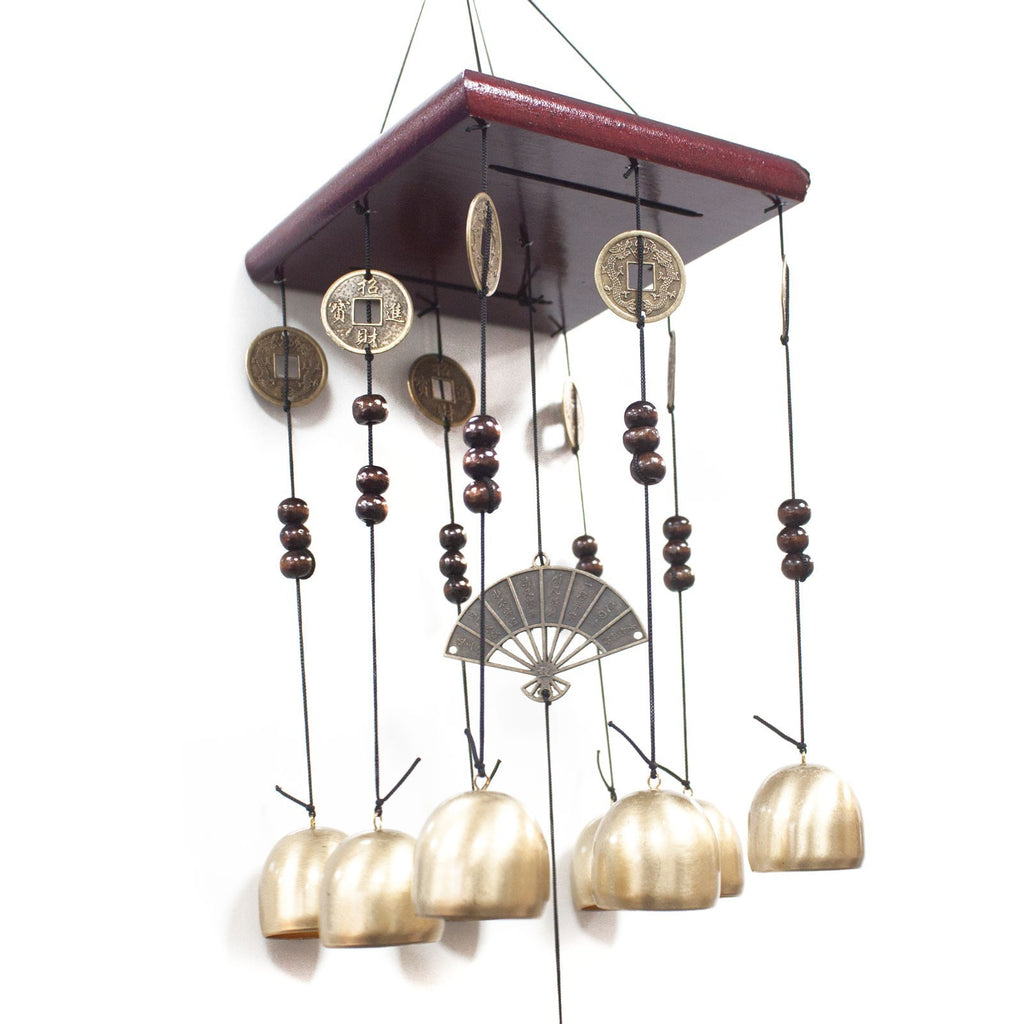 Feng Shui Chimes - Square 8 Bells & Fan