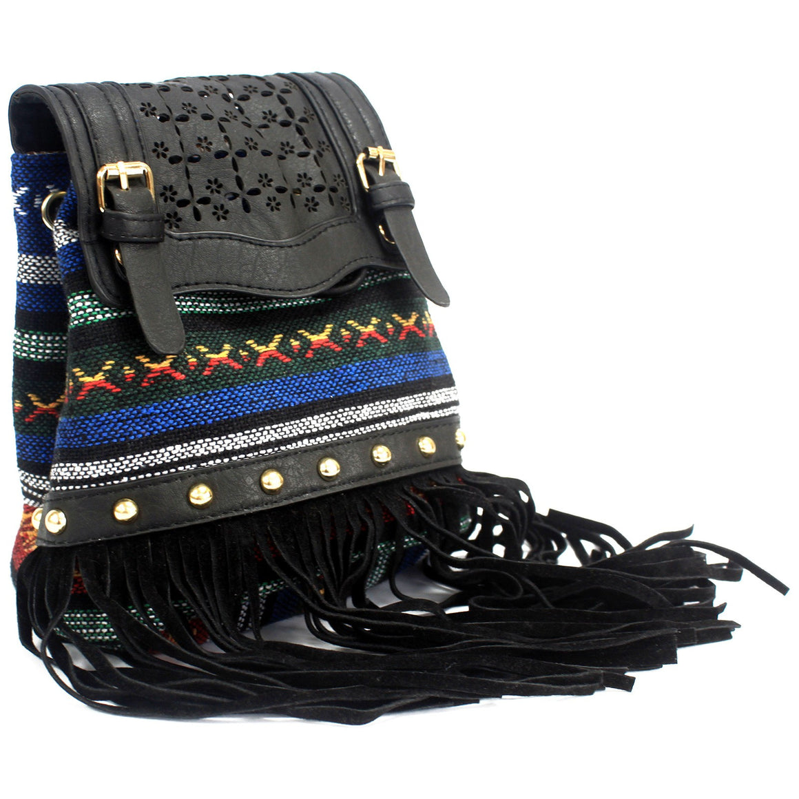 Bags, Black, Black Stripy With Fringe, Gift, Italian Style, Italian Style Handbags, Milan, Shoulder strap