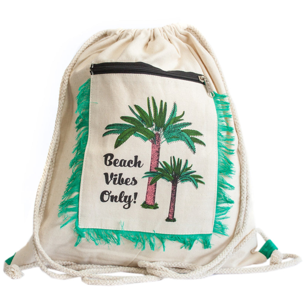 Fringe Backpack - Palm Trees