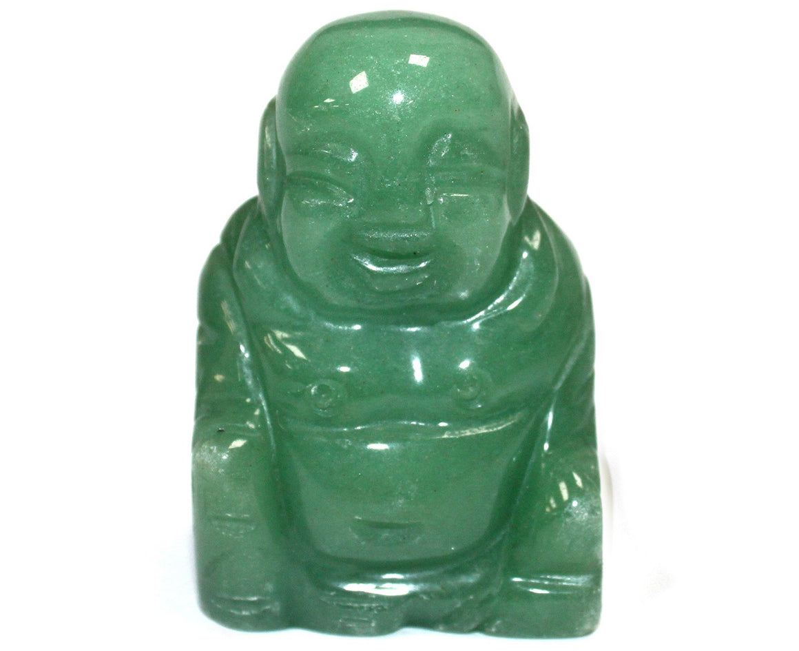 Gemstone Happy Buddha - Jade