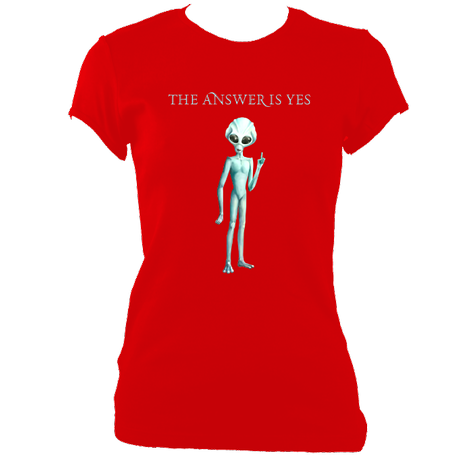 The Answer Is Yes - Women's Fitted T-Shirts