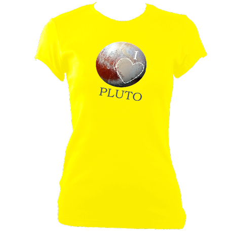 I Love Pluto - Women's Fitted T-Shirts