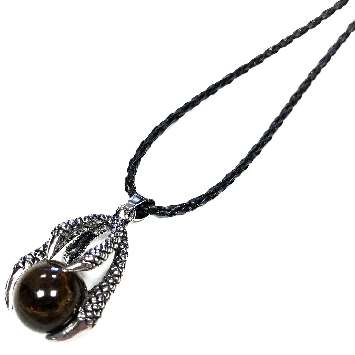 Dragon Claw Orb Pendant Necklace