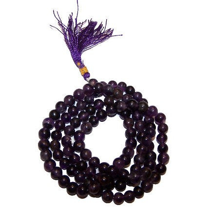 Mala Beads Natural Stone Bracelet - Black Agate