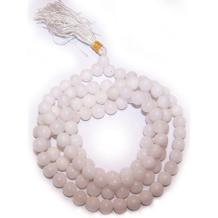 Mala Beads Natural Stone Bracelet - White Quartz