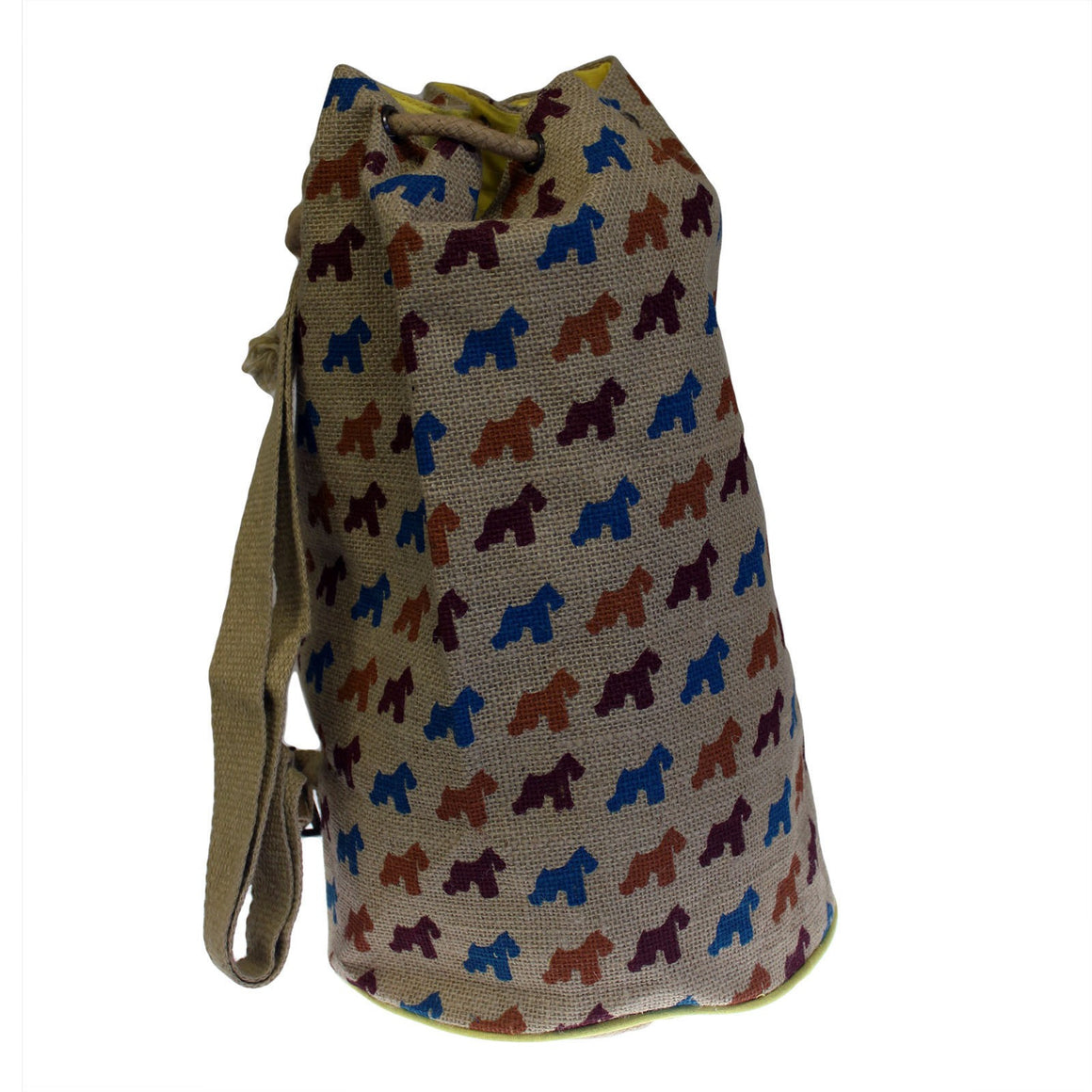 Backpacks, Bags, Hipster Duffle Bags, Jute Bags, Jute Duffle Bag, Outdoors, Scotty Dog, Travel