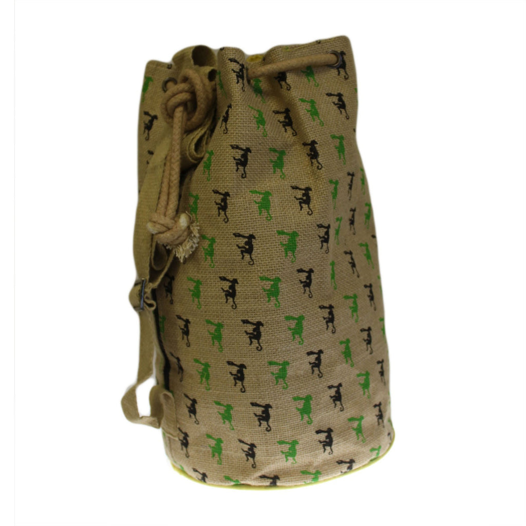 Backpacks, Bags, Hipster Duffle Bags, Jute Bags, Jute Duffle Bag, Little Monkey, Outdoors, Travel