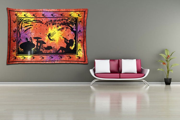 Fairy Under Tree Bedspread / Wall Art