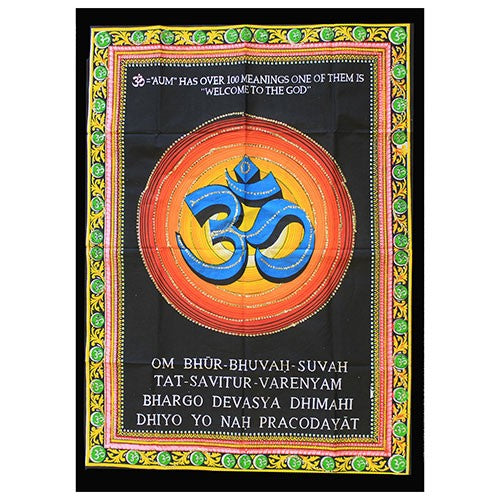 Indian Wall Art Print - Om
