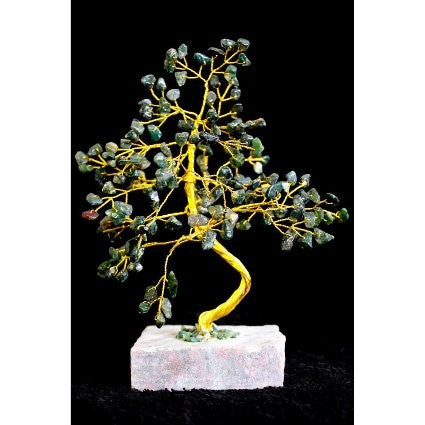 Moss Agate Gemstone Tree (160 Stone)