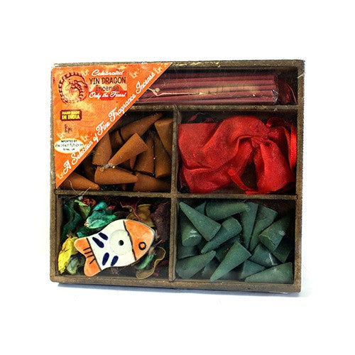Square Box Sticks, Cones, Holder & Sachet - Gift Incense Pack