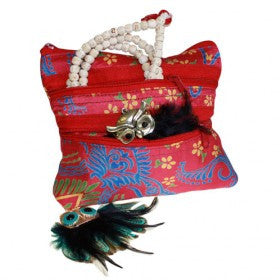Alpana, Alpana Silk Jewellery Pouch, Bags, Blue, Ethnic Bags, Gift, India, Ipad, Jewellery Pouch, Red, Silk, Travel Type: Ethnic Bags