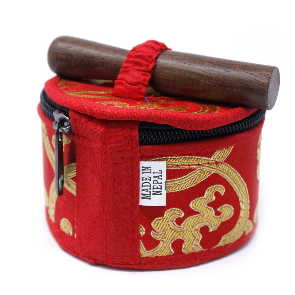 Mini Singing Bowl Gift Set - Red