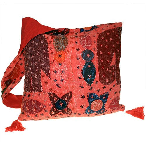 Bags, Elephant Patch, Ethnic Bags, Gift, India, Indian, Multi Patch Indian Ethnic Bags, Patch, Red, Zip