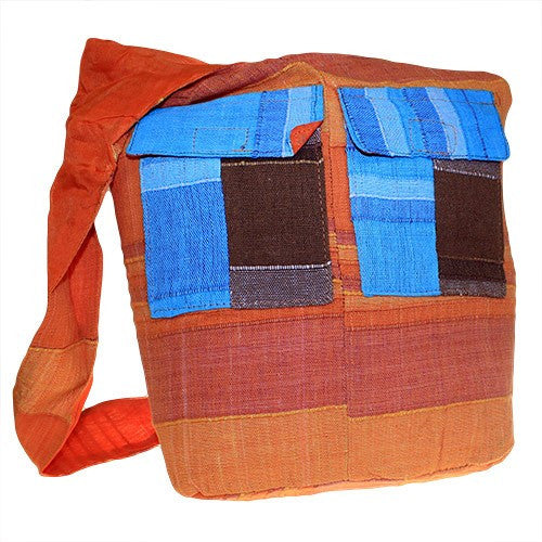 Bags, Ethnic Bags, Gift, India, Indian, Multi Patch, Multi Patch Indian Ethnic Bags, Natural Oranges, Patch, Zip