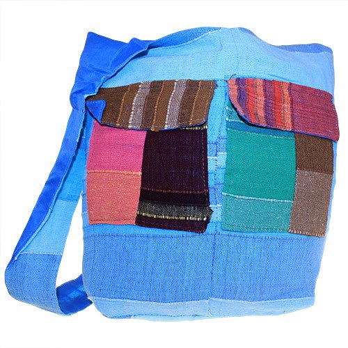 Bags, Blue, Blues, Ethnic Bags, Gift, India, Indian, Multi Patch, Multi Patch Indian Ethnic Bags, Patch, Zip