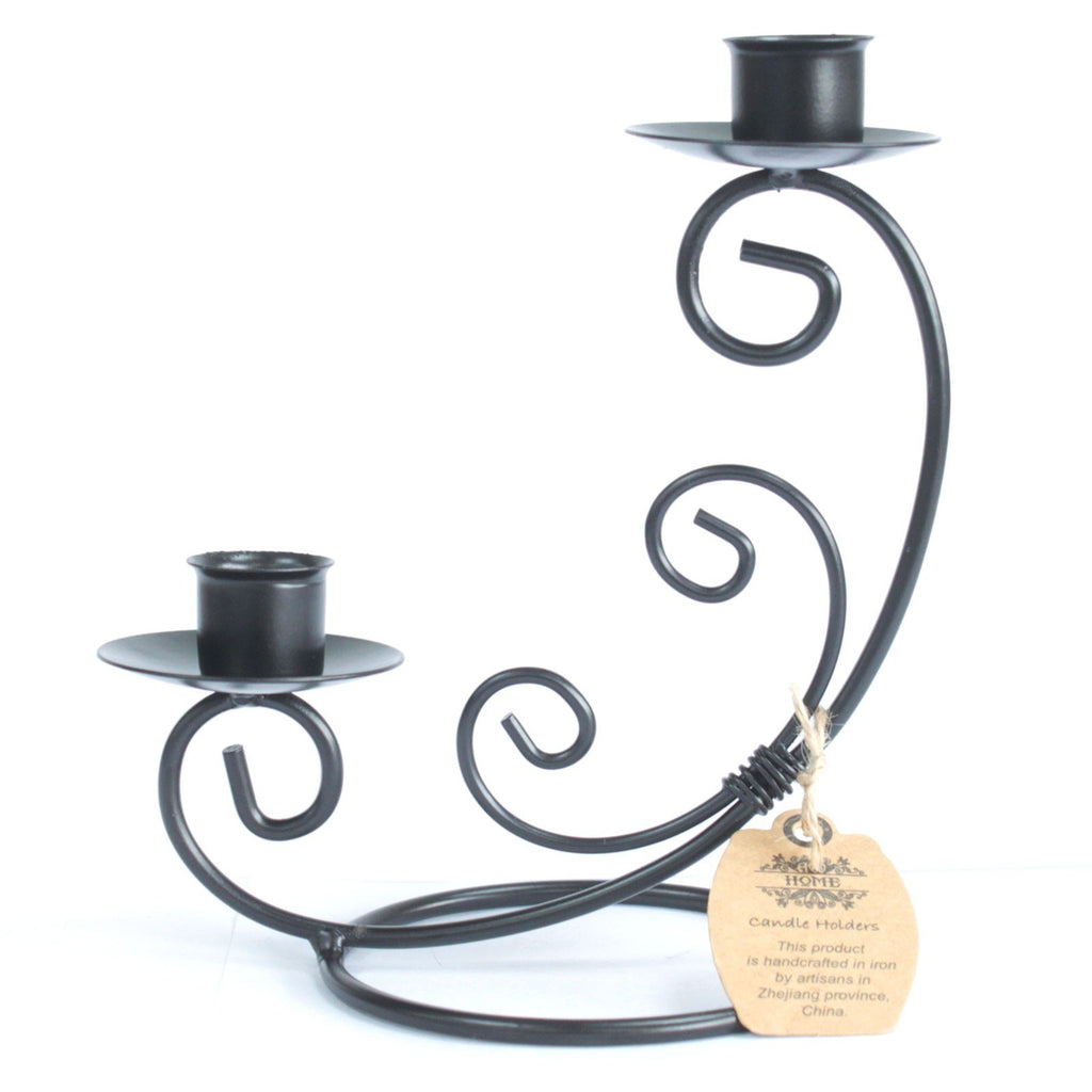 Iron Candle Holder - Double Stick Classic