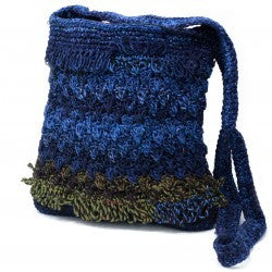 Crocheted Sling Bags - Blue & Brown (Assorted Colours)