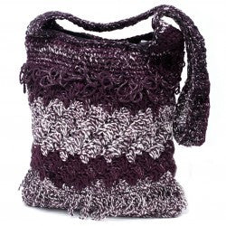 Crocheted Sling Bags - Lavender (Assorted Colours)