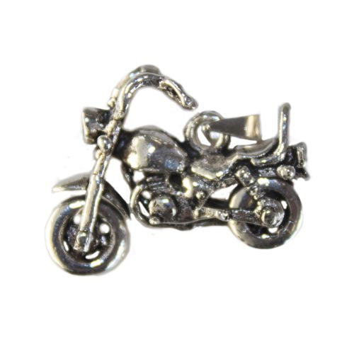 925 Sterling Silver Harley Pendant