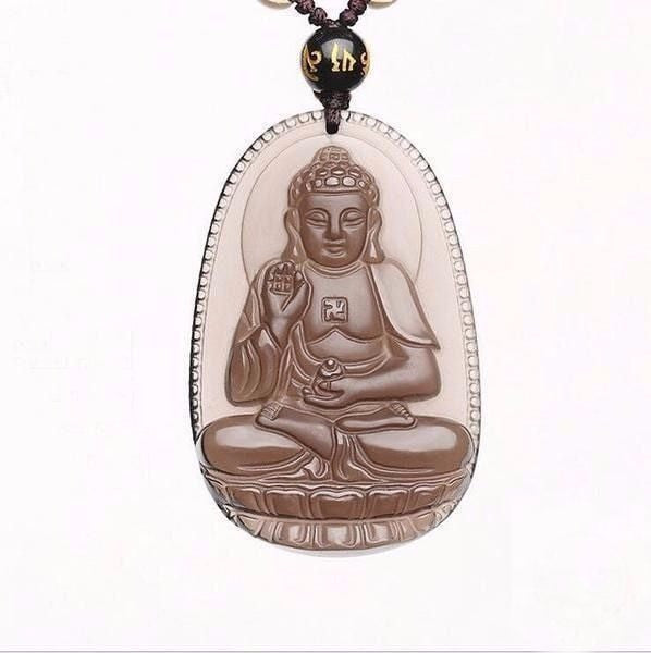 Protective natural ice obsidian amitabha buddha pendant necklace protective natural ice obsidian amitabha buddha pendant necklacevelvet pouch hand carved mozeypictures Image collections